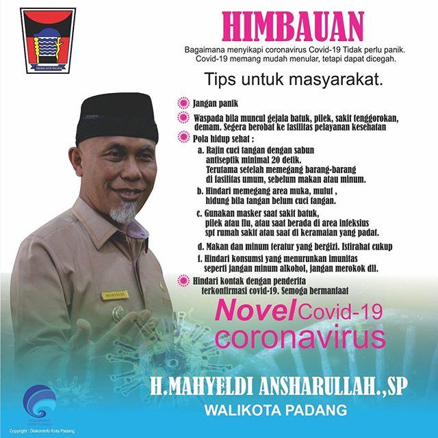 Walikota Padang H Mahyeldi Ansharullah (foto: instag)